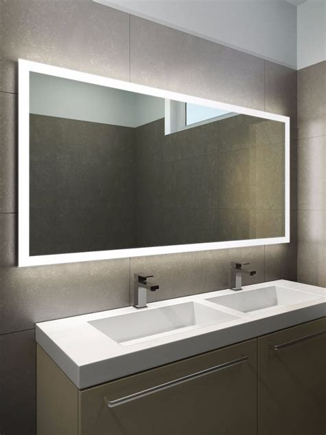 mirror for the bathroom halo wide led light bathroom mirror 1419h illuminated