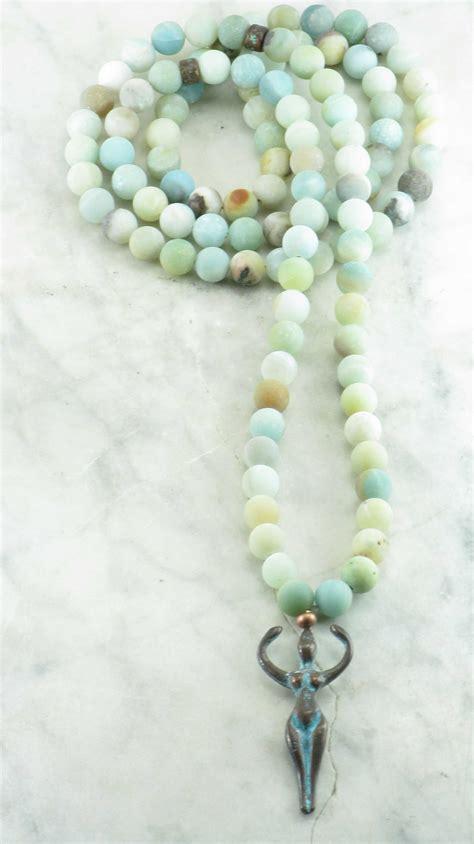 mala bead goddess mala 108 amazonite mala
