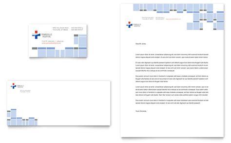 hospital business card amp letterhead template design