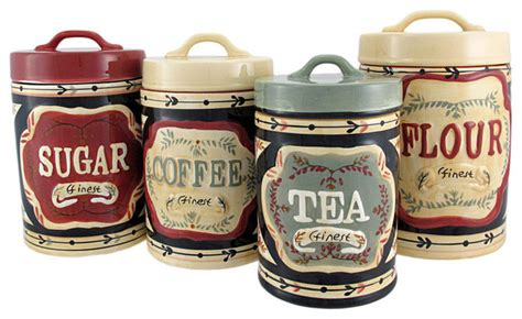 country kitchen canisters sets 4 country store kitchen ceramic canister set