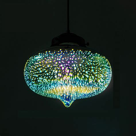 lights colored decorative 3d glass shade colored glass pendant light