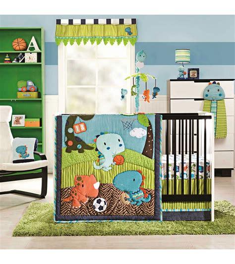sports crib bedding kidsline dino sports 4 crib bedding set