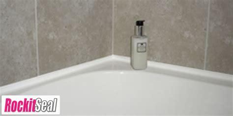 bath shower seal rockitseal modern slim line bath and shower seals easy fit