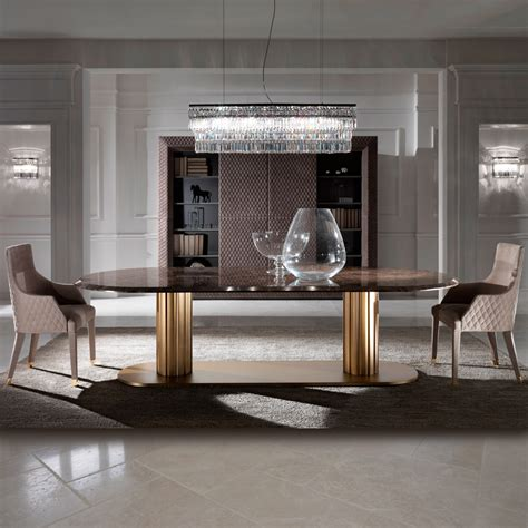 italian dining table contemporary italian large oval marble dining table and