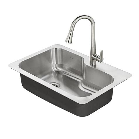 steel kitchen sinks shop american standard raleigh 33 in x 22 in single basin
