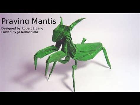 origami mantis origami praying mantis robert j lang not a tutorial
