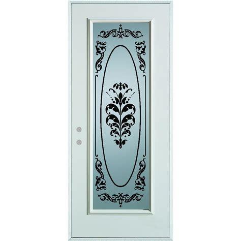 stanley glass doors stanley doors 32 in x 80 in silkscreened glass lite
