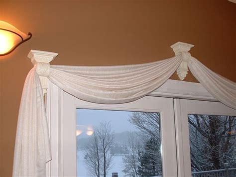 Window Treatment Ideas For Bow Windows 25 best ideas about scarf valance on pinterest window