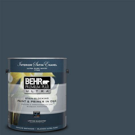 home depot ultra paint behr premium plus ultra 1 gal ppu15 13 blue hydrangea
