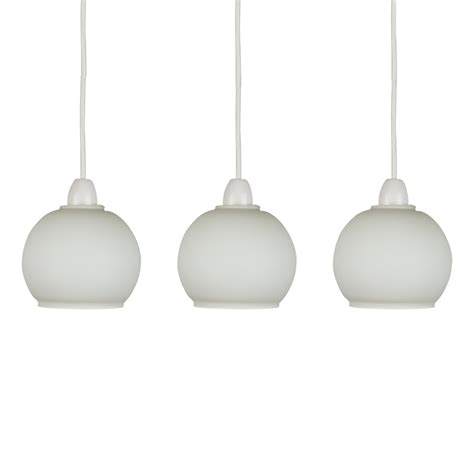 replacement light shades for ceiling lights set of 3 frosted white glass domed ceiling light pendant