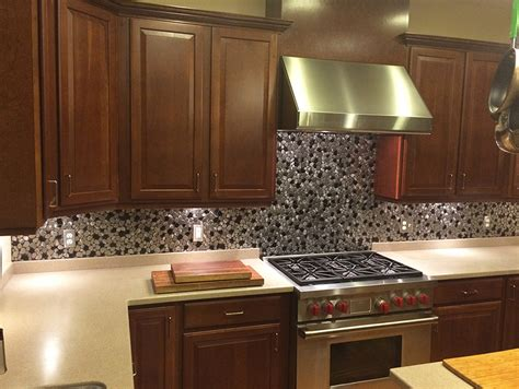 metal kitchen backsplash stainless steel backsplash metal mosaic tile
