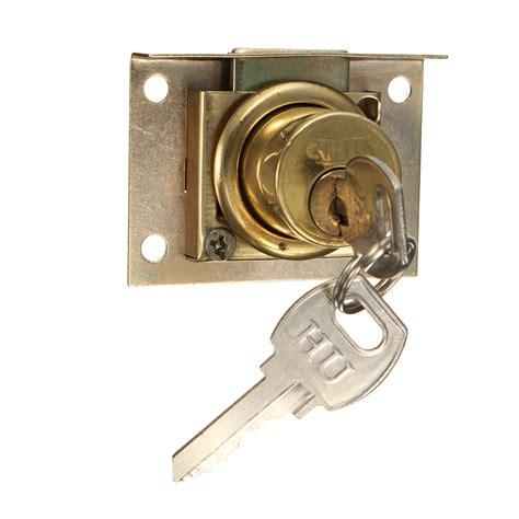 desk drawer locks drawer lock kit with 2 cabinet cupboard door home office desk catch ebay