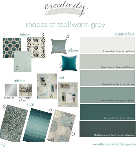 Bedroom Paint Ideas Pictures shades of teal and warm gray moody monday 2