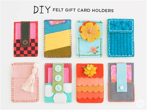 gift card holders to make fresh felt gift card holders think make