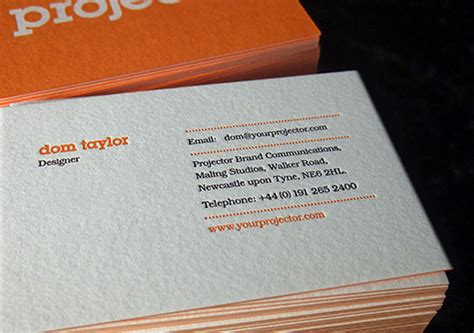what makes a great business card projector 20 great exles of letterpress business