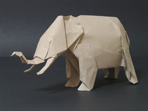 origami elephant for zing origami animals beasts and creatures