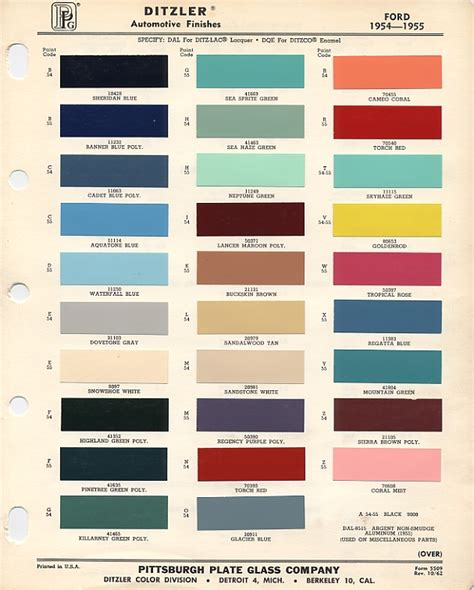 paint colors and codes thunderbird paint codes and color chips