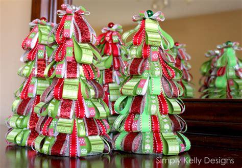 Joann Fabrics Home Decor diy ribbon tree ornament 187 simply kelly designs