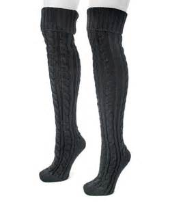 knit the knee socks muk luks black cable knit the knee socks set zulily