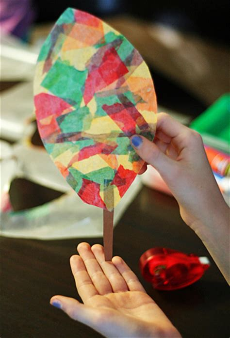 wax paper crafts for wax paper leaf sun catchers make and takes