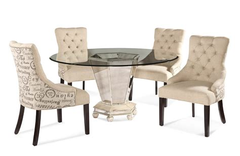 dining room sets with fabric chairs reflections dining set with script fabric chairs antique