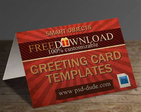 free card tutorials 3 greeting card templates with photoshop free psd file