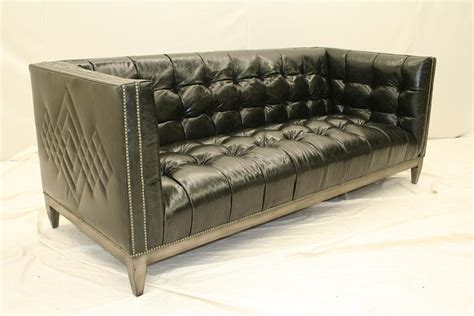 tufted black leather sofa 007 cool black leather tufted sofa custom stitching