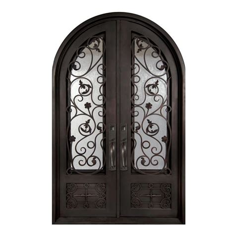 home depot wrought iron paint iron doors unlimited 62 in x 98 in fero fiore classic