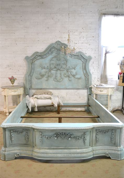 white shabby chic beds bed painted cottage shabby chic king bed