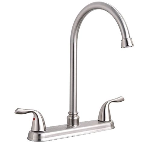 industrial kitchen faucets stainless steel hotis commercial two handle lever stainless steel kitchen sink faucet brushed