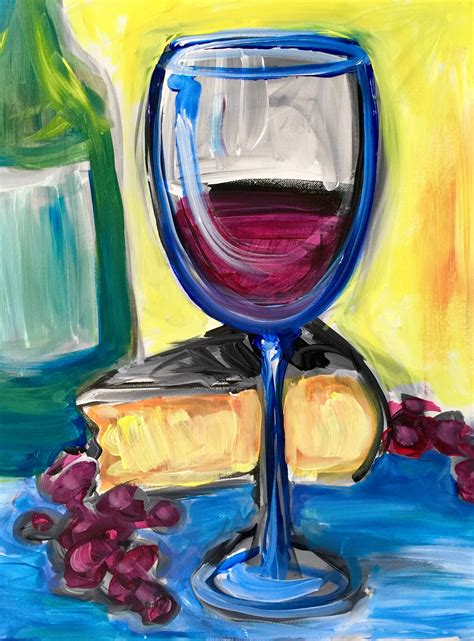 paint nite winchester va abstract wine paint nite event