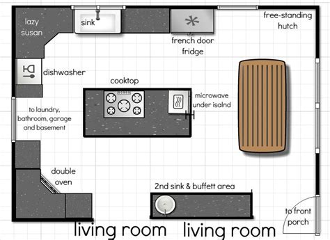 best kitchen floor plans 18 best kitchen floor plans images on
