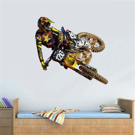 color wall decal mural sticker decor poster gift bike motocross jump motocycle