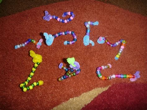 bead cleaning pipe cleaner and bead caterpillars crafts