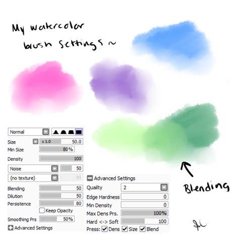 tool sai brush my watercolor brush settings paint tool sai by