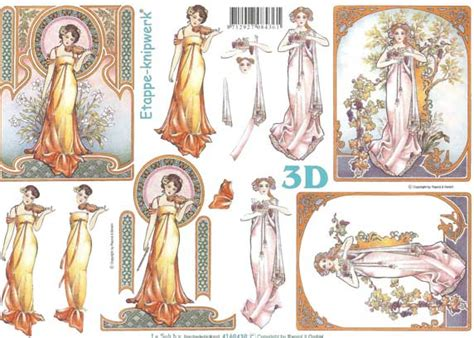 3d decoupage prints nouvou 3d decoupage sheet