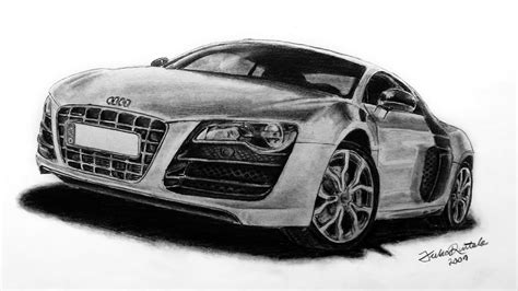 Cool Car Wallpapers Hd Drawings Or Portraits by Audi R8 Speed Drawing With Pencil Juho234