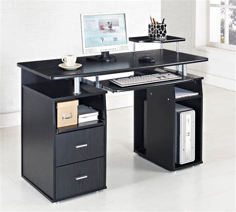 home office table desk black computer desk table furniture for cool black white