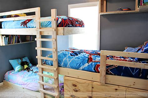 three way bunk bed saving space and staying stylish with bunk beds
