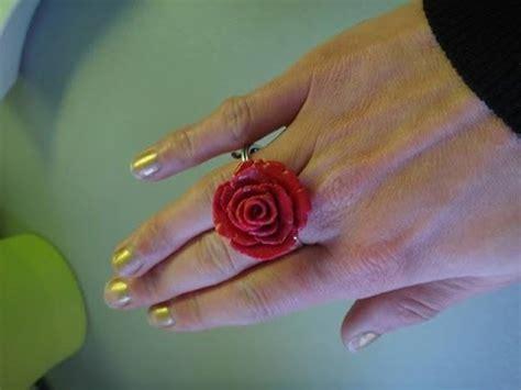 diy bague fleur fimo tuto bijoux