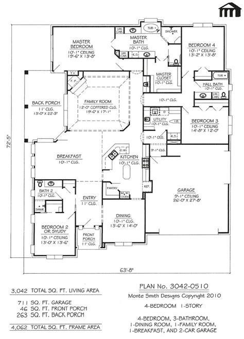 floor plans for 1 story homes 4 bedroom 1 story house plans catchy interior home design