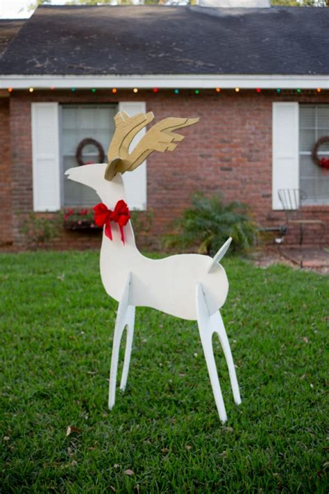 wooden yard decorations eclectic recipes reindeer and wooden yard
