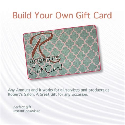 make your own gift card robert s salon products a stylist s best friend