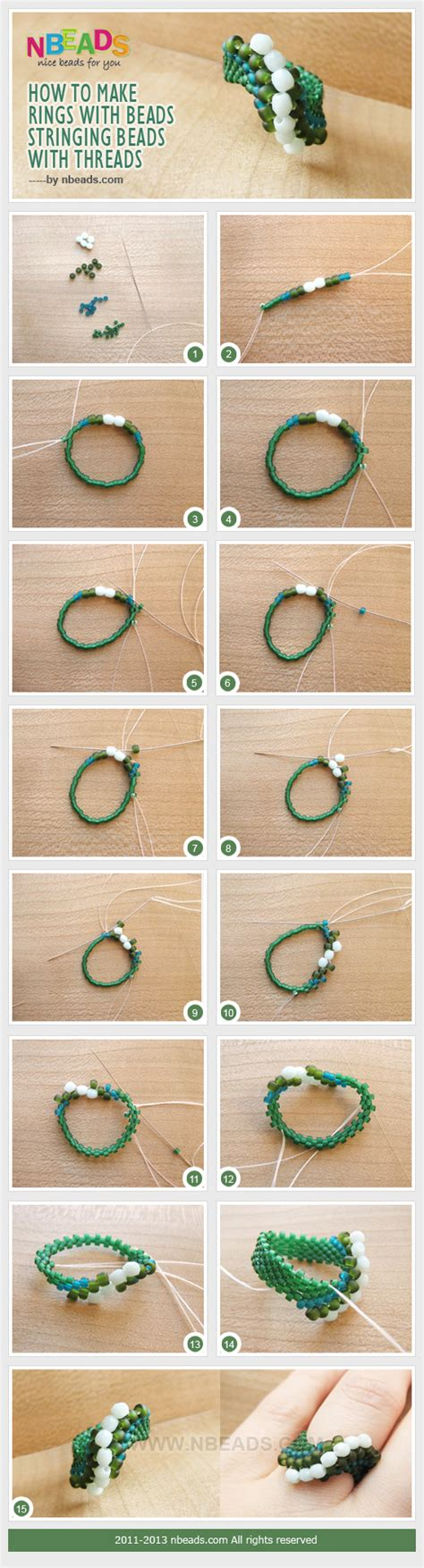 how to make beaded rings how to make rings with stringing with