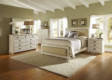 white distressed bedroom furniture spaces