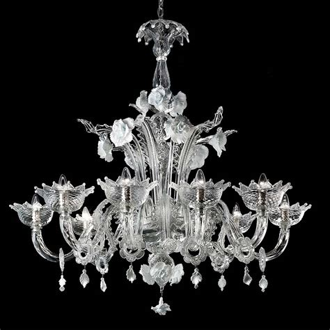 chandeliers glass biancaneve chandelier murano glass chandeliers