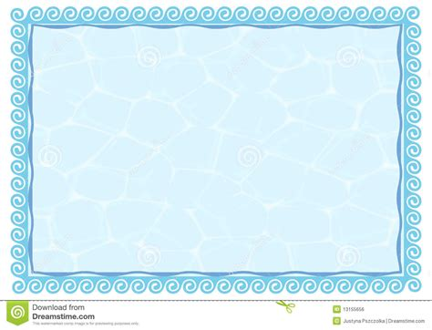 blank award templates water frame stock vector image of border color card