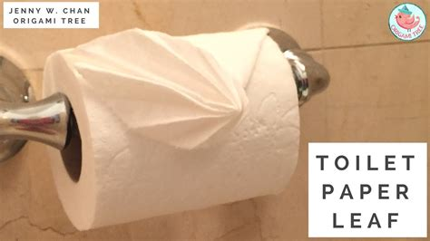 origami toilet paper toilet paper leaf folding toilet paper 187 origamitree