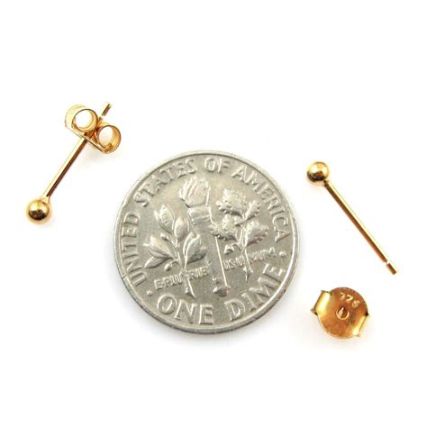 earring posts for jewelry wholesale gold plated sterling silver simple silver stud