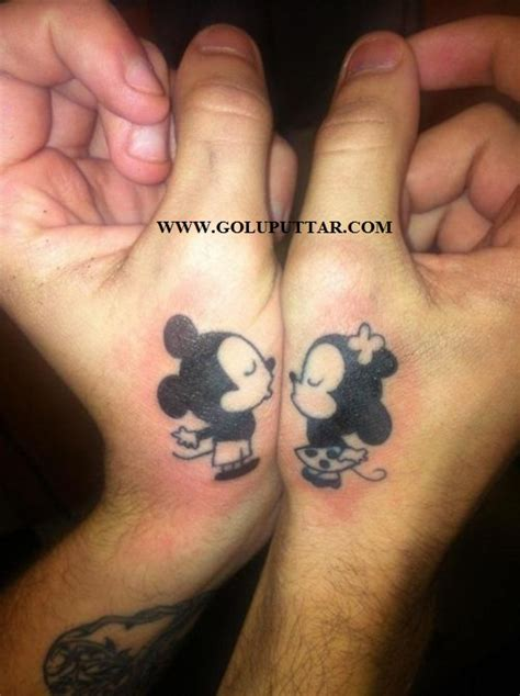 cute cartoon tattoo for couple on wrist goluputtar com
